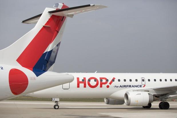 En dépit d'une année 2016 perturbée par les grèves et les attentats, le trafic enregistré à Lille par la filiale d'Air France en 2016 a augmenté de 4,3% face à une baisse de l'offre de 2,8% - Crédit HOP V. Valdois