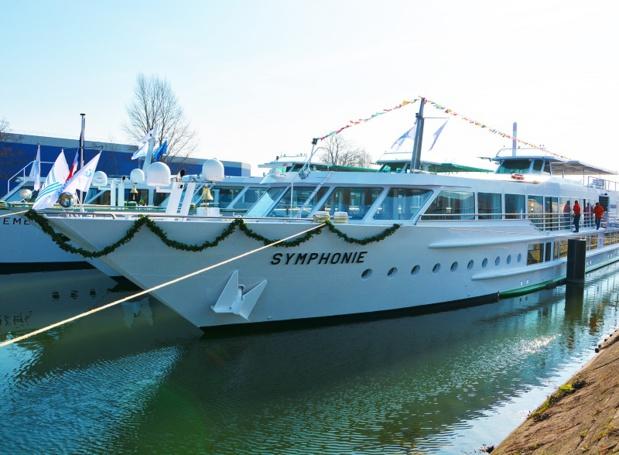 Le MS Symphonie II peut accueillir 110 passagers dans ses 48 cabines - DR : CroisiEurope