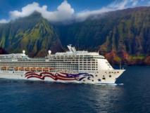 Le Pride of America navigue dans les quatre principales îles hawaïennes (Honolulu, Maui, Big Island et Kauai) - DR : NCL
