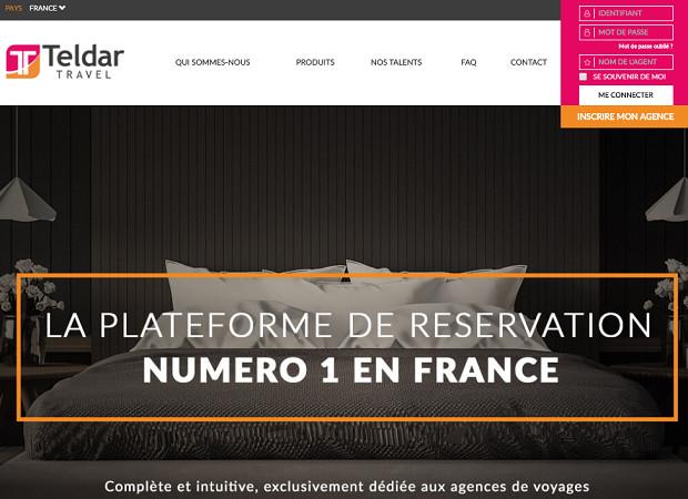 Teldar Travel est une plateforme de réservation hôtelière pour les professionnels du tourisme - Capture d'écran