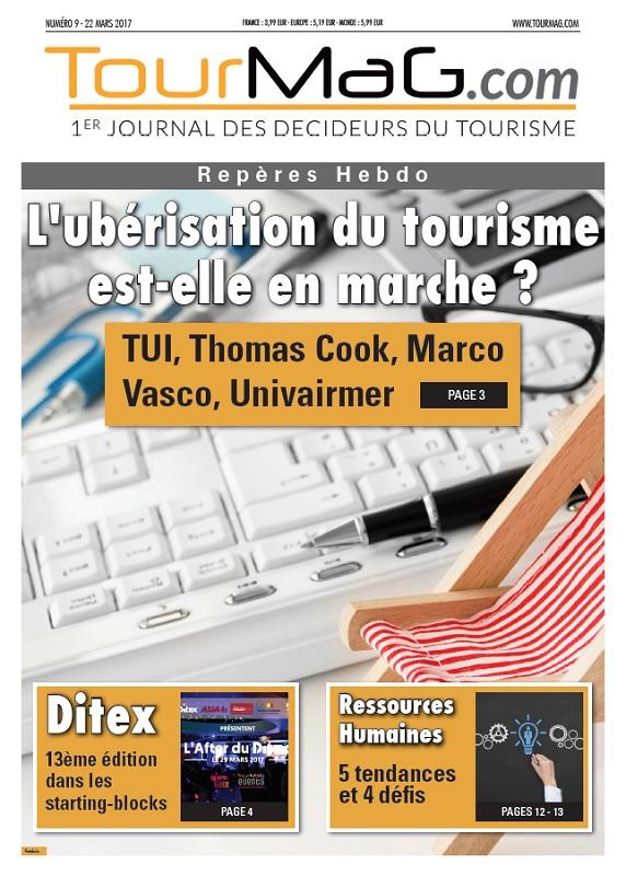 La couverture du 9e numéro de Repères Hebdo - DR : TourMaG.com