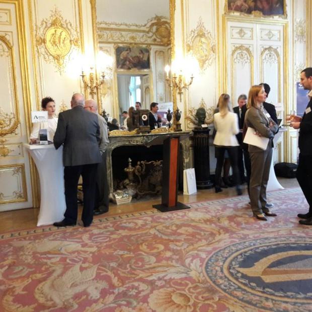 Workshop dans les salons de l'Ambassade d'Irlande à Paris, l'ancien Hôtel de Breteuil acquis en 1954 par la République d'Irlande. Photo MS.