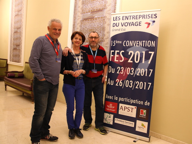 Gilles Kuster, le nouveau président des EDV Grand Est, Eliane Mas Bernardin, co-présidente, et Ali Bouaouina, administrateur (c) RBT