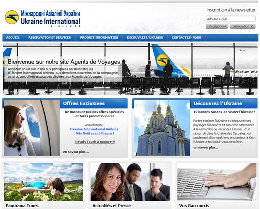 Ukraine Int. Airlines lance un site pour les agents de voyages