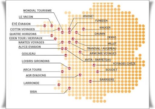 6 nouvelles agences sont venues s'ajouter à la carte déjà bien fournie de Voyages Internationaux dans la région du Grand Ouest avec 26 points de vente
