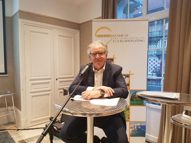 """René-Marc Chikli, président du SETO : """"l'industrie du tourisme doit être considérée enfin comme une véritable industrie et devenir une priorité nationale au plus haut de niveau de l'Etat"""". - Photo C.E."""