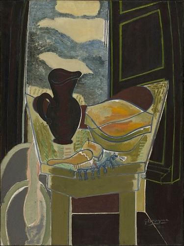 La Toilette devant la fenêtre, 1942 Huile sur toile, Collection du Centre Pompidou, MNAM/CCI, Paris Don de Mme Georges Braque, 1965