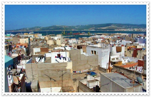 La baie de Tanger vue de la Médina