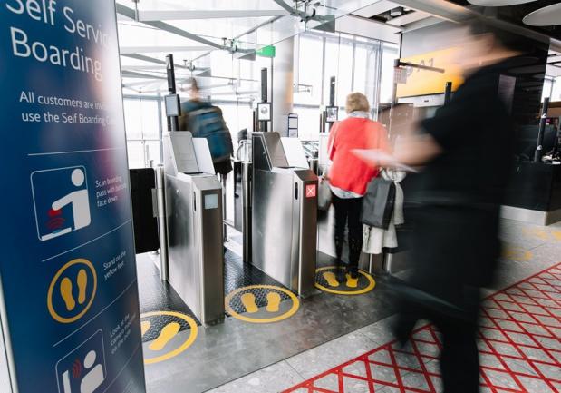 Le système self-boarding de British Airways repose sur la technologie et les équipements de reconnaissance faciale - Photo BA