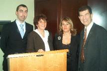 Martine Antier entourée de quelques membres de la CSR Côte d'Azur