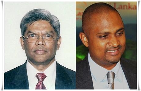 Bernard Goonetilleke PDT du SLTPB et PDT du SLTDA, Dileep Mudadeniya actuel DG du SLTPB à Colombo