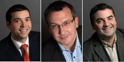 Matthieu Evrard, Desmond Taljaard et Christophe Novellon