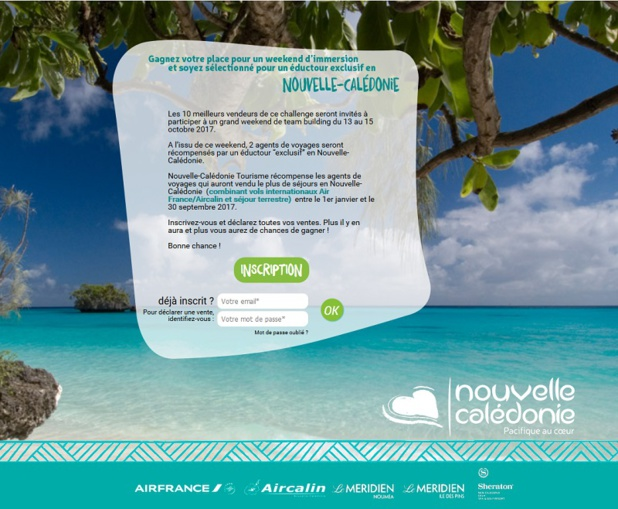 Le challenge de ventes lancé par Nouvelle-Calédonie Tourisme - DR