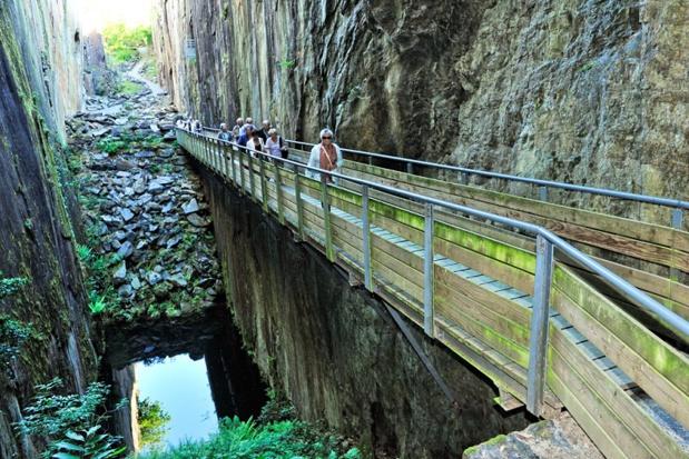 Le site les Pans de Travassac est officiellement ouvert au public depuis 1997 © Brive Tourisme