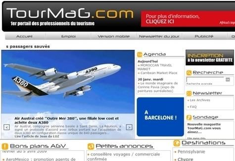 TourMaG.com : lifting et refonte des murs au plafond !