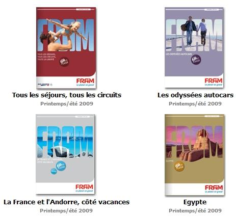 Brochuresenligne.com : 2 nouvelles brochures Voyages Fram