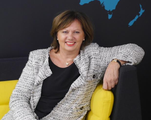 """Brigitte Nisio, DG France de CWT : """"Sur la France, 80% de nos clients sont équipés d'outils on-line avec un taux d'utilisation de 51%. CWT Meetings & Events affiche une progression de 16% des revenus, tandis que le business travel accuse une recul de 4% du volume d'affaires"""" - Photo LT-Leman CWT"""