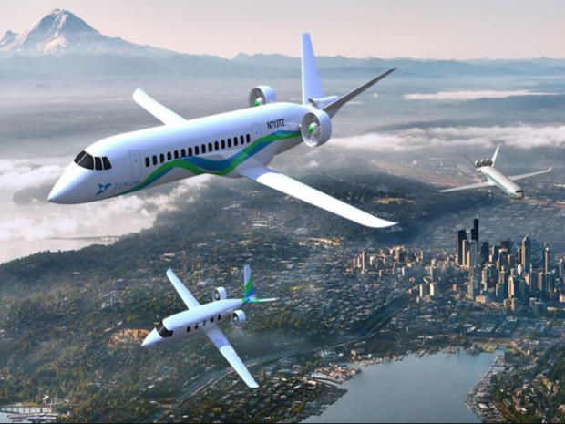 Le Zunum, soutenu par Boeing, devrait transporter une cinquantaine de personnes sur 1000 km, propulsé par un moteur hybride, dès 2020. © DR