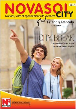 """Couverture de la brochure """"Novasol City"""" 2017 - DR : Novasol"""