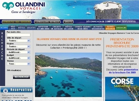 Ollandini affrète 40 000 sièges A/R et veut faire aussi bien qu'en 2008