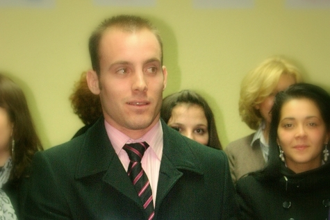 Johann VINCENT de l'Institut Ste Marie de Chavagnes à Cannes et Naima MCHINDA du Lycée Hôtelier et de Tourisme Bonneveine
