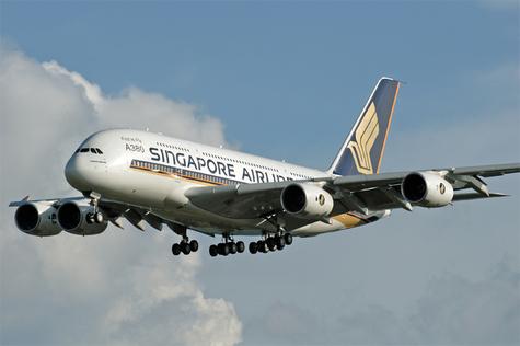 Airbus A380 dont SIA est la compagnie de lancement
