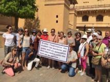 Les guides mobilisés alertent les touristes - Photo : S.A.