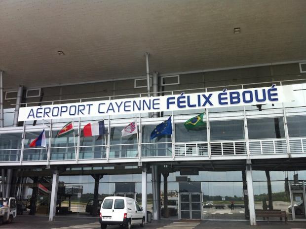 L'aéroport de Cayenne-Félix Eboué, principal point d'entrée sur le territoire guyanais © DR
