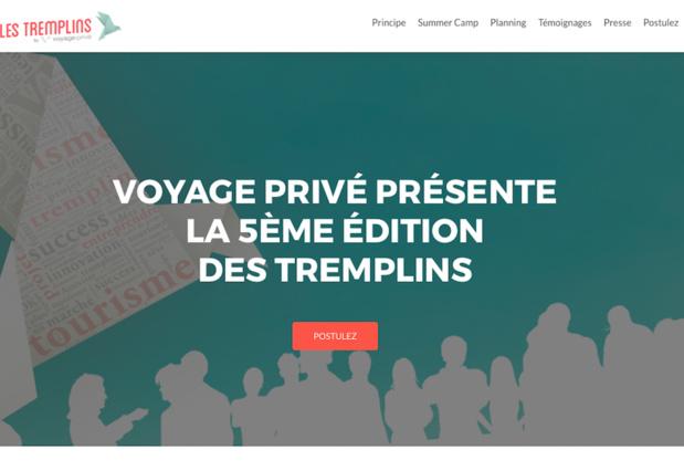 Les entrepreneurs dont les projets retiendront l'attention du jury Voyage Privé, auront l'opportunité d'intégrer un Summer Camp de 8 jours de coaching intensif à Aix-en-Provence du 11 au 19 juin 2017 (c) Capture Les tremplins Voyage Privé