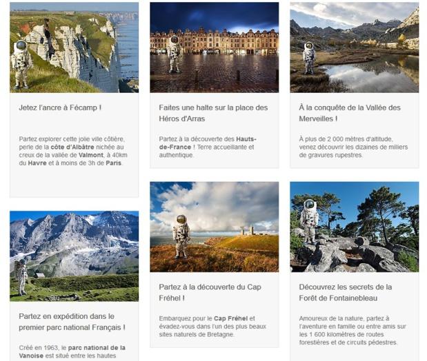L'agence de pub n'a rien trouvé de mieux que de pondre une campagne de promotion du tourisme français en France intitulée « Françonaute » - DR Capture écran
