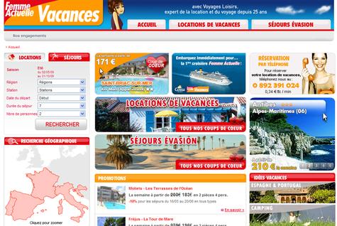 Marque Blanche : Femme Actuelle lance un site de ventes de voyages
