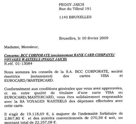 Wasteels Belgique : la BCC réclame... 100 000 euros à 19 salariés licenciés !