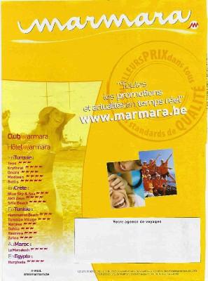 La brochure de la discorde entre TravelGroup et Marmar/Bosphorus