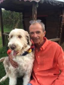 Dominique Gobert et chien Charly