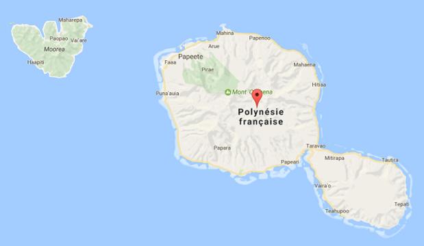 La fréquentation touristique internationale de Tahiti et ses îles a progressé en 2016 - DR : Google Maps