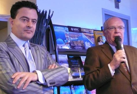 Yannis Vassilakopoulos et François Weill, vice-président et président de FFC