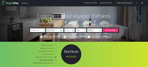 MagicStay est une plateforme de location d'hébergements pour les professionnels - Capture d'écran