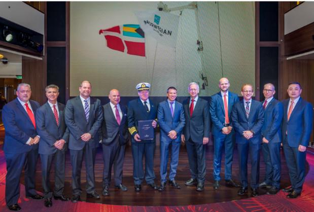 Le Norwegian Joy a été livré jeudi 27 avril 2017 à Norwegian Cruise Line - Photo : Norwegian Cruise Line