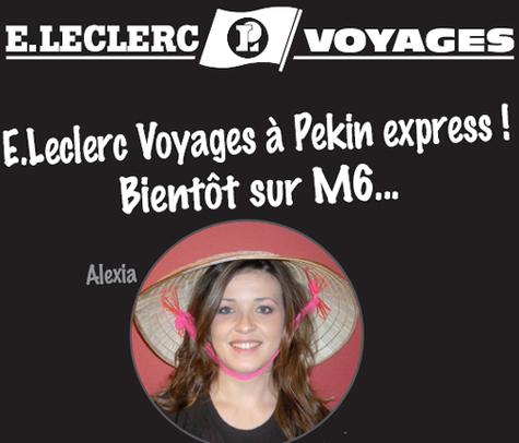 E.Leclerc Voyages : une agent de voyages participe à Pékin Express