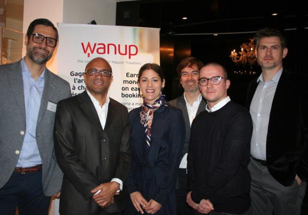 L'équipe de Wanup réunie à Paris à l'hôtel MonHôtel (c) Johanna Gutkind