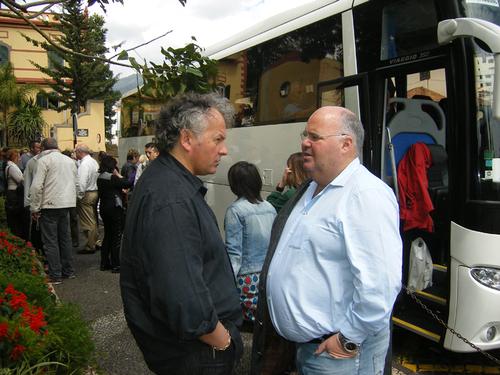 Thierry Schidler et Michel Salaün en grandes discussion