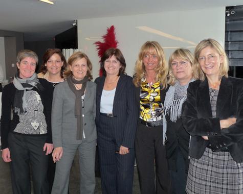 De gauche à droite : V. Brizon, D. Daget, A. Gascoin, C. Pioli, C. Deloy, M. Laget-Herbaut, G. Leduc