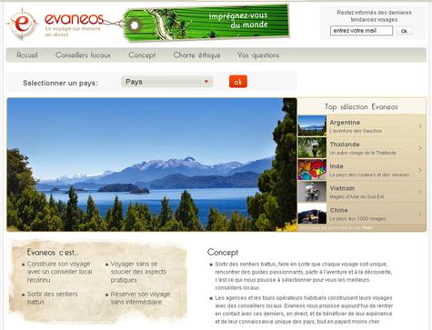 Le site Evaneos.com lancé début janvier 2009