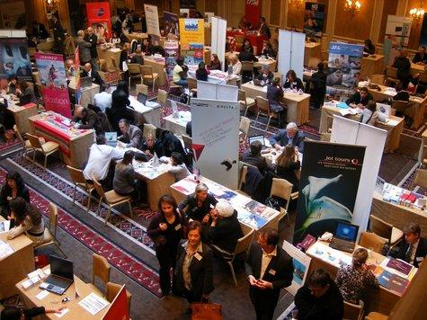 Un workshop animé et studieux avec 75 exposants (contre 69 en 2008). Dans les salons du Westin à Paris.