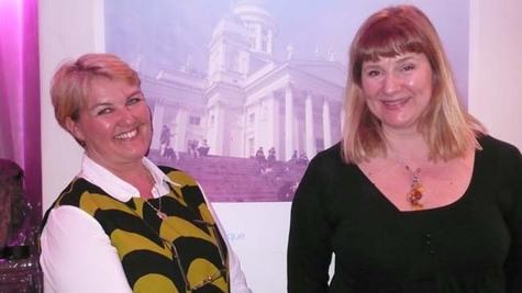 Anne Relander de l'OT de la ville d'Helsinki (à gauche) et Annaleena Soult, marketing manager France de Finpro-Visit Finland