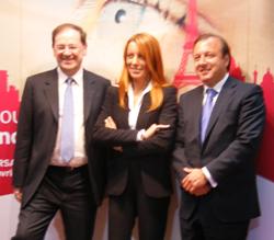 M. Vittoria Brambilla, secrétaire d'Etat italienne chargée du Tourisme entourée par H. Novelli et J. Mesquida Ferrando, secrétaire d'Etat espagnol chargé du Tourisme