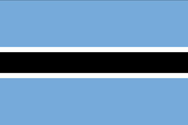 Drapeau du Botswana - DR : Wikipedia