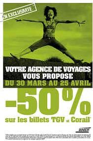 SNCF : billets TGV et Corail à moitié prix exclusivement dans les agences