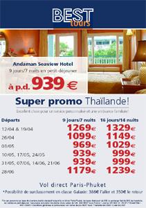 BEST tours mise sur la Thaïlande en basse saison