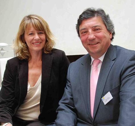 Claire Ripert Lartigau, Directrice de la communication de la ville et Olivier Lépine, Directeur général de Biarritz Tourisme